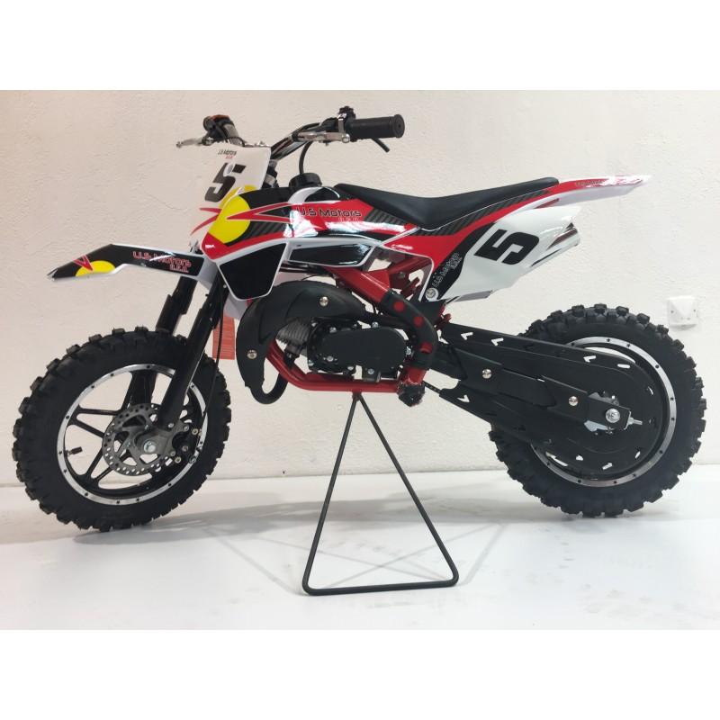 Moto Cross Country 50 Cc Rebelle Rouge Verte Us Motors